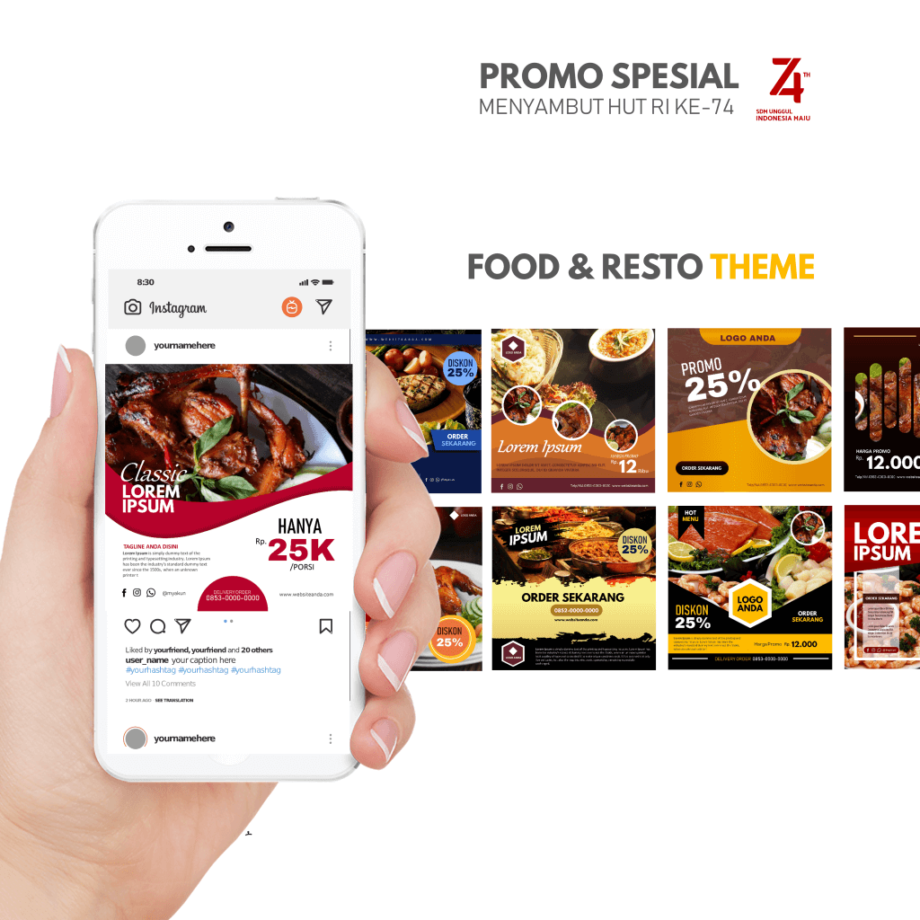 PPTBIZ - Template Promosi Food & Resto