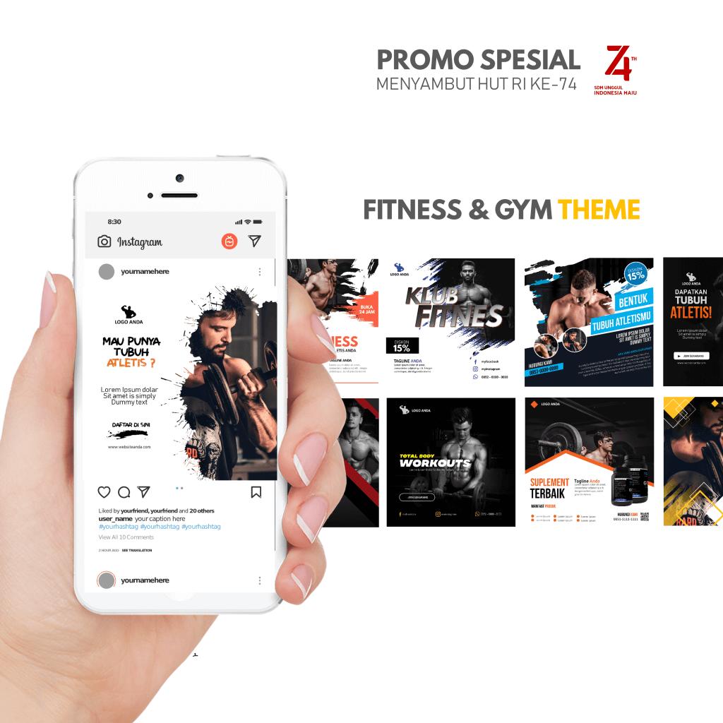 PPTBIZ - Template Promosi Gym & Fitness
