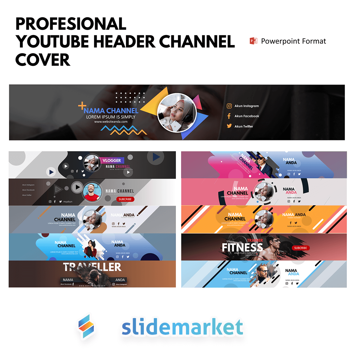 PPTCOVER - Template Youtube Cover
